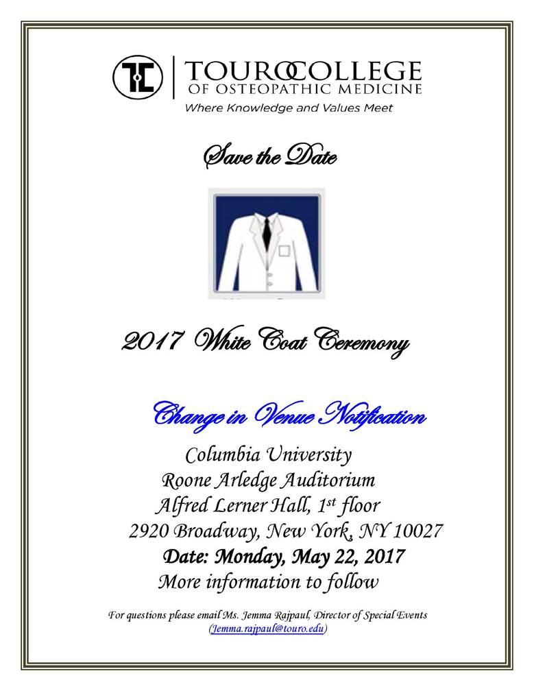 Class of 2019 White Coat Ceremony - Harlem : Touro College of ...