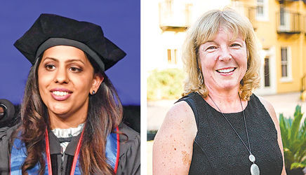 Kew Gardens' Dr. Payal Aggarwal, left, and Ridgewood native Karen Pekle, an oncology nurse practitioner, were both honored with awards in late June for their respective successes in the field of medicine.