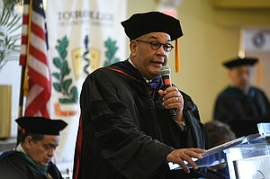 "Keynote speaker Michael Hardy, Esq., also a founding TouroCOM-Harlem Community Advisory Board member and EVP for National Action Network, told the graduates, ""Make sure that you when you go on your journey you become relevant to someone other than yourself. You should always be determined in everything you do and you will not only find success, but appreciation."""
