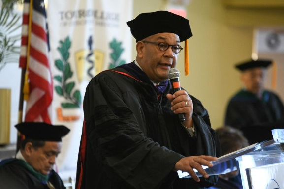 TouroCOM held commencement ceremonies at the Alhambra Ballroom in Harlem for the Class of 2018 candidates for its Master of Science program in Interdisciplinary Studies in Biological and Physical Sciences