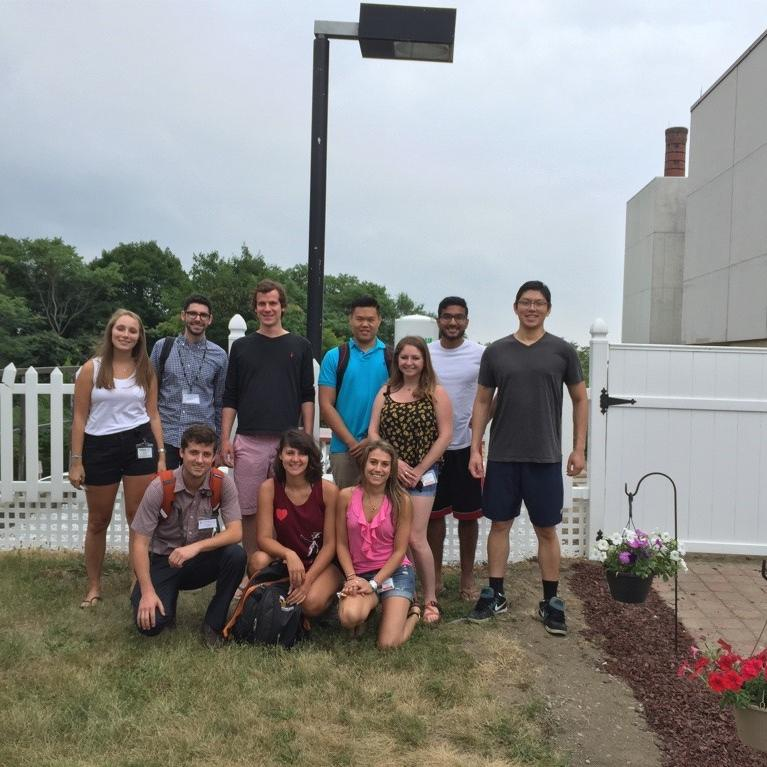 First-year TouroCOM-Middletown students will be responsible for upkeep of the garden. Back row, L-R: Nicole Graham, Charles Arber, Ranier Harper, Edward Qian, Prabhat Yetura, Peter Voong. Front row, L-R: Ian Hopper, Justine Misholy, Alexus Taddoni