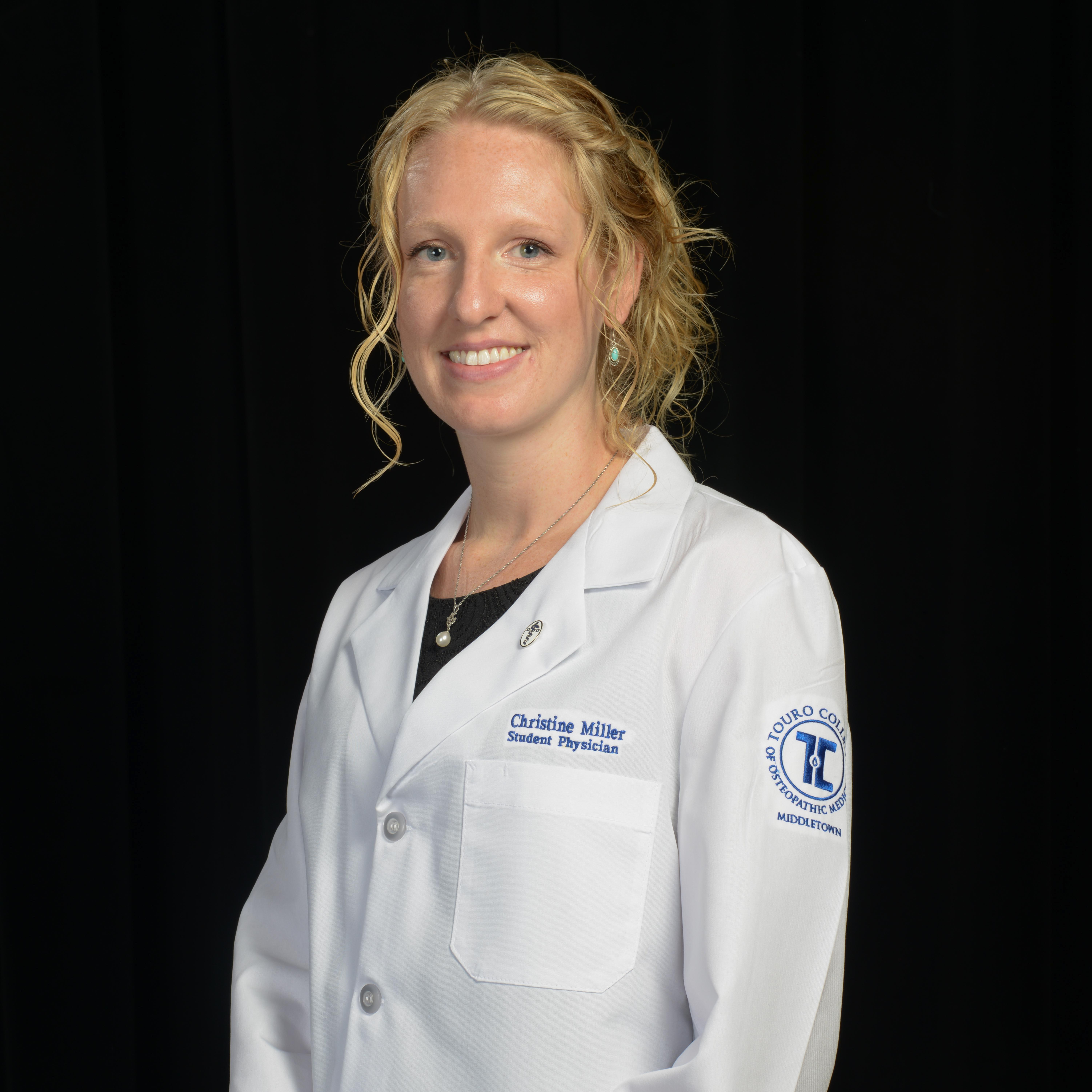 Christine Miller is the 2015 Student D.O. of the Year at Touro College of Osteopathic Medicine (TouroCOM)-Middletown.
