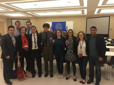 Celsa Tonelli, TouroCOM-Harlem, with other Student Section Delegates at the MSSNY conference