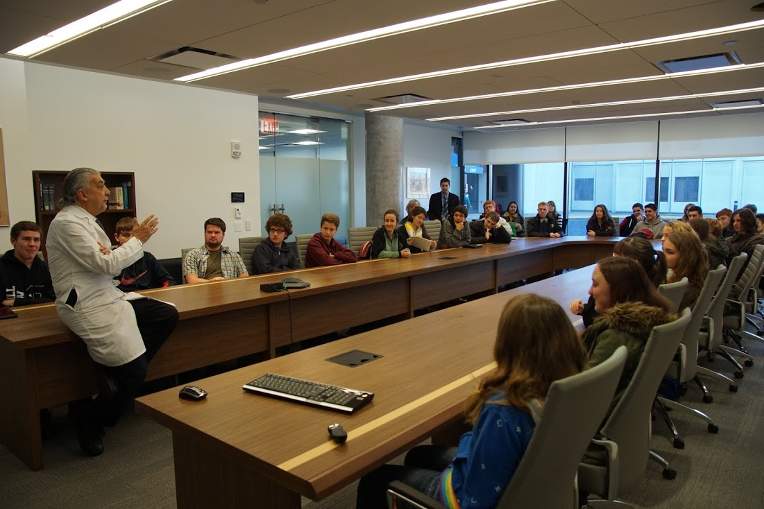 James I. O'Neill High School students visit TouroCOM-Middletown