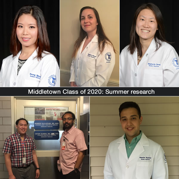 Between first and second year, TouroCOM Middletown Class of 2020 students took part in research projects over their summer break.