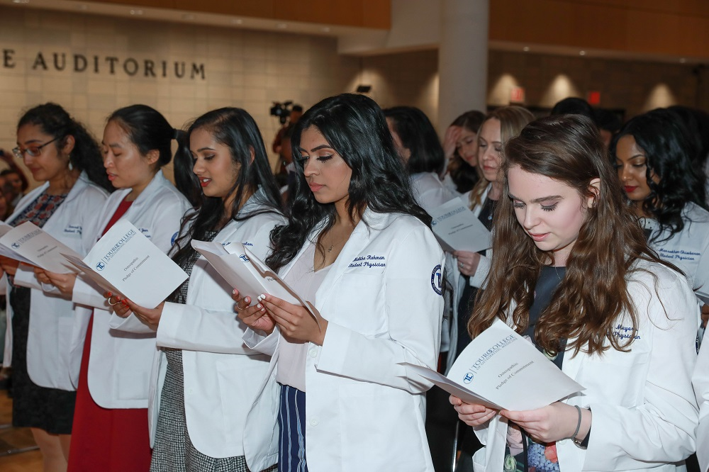 Members of the class of 2020 donned their white coats.