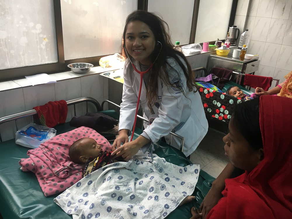 OMS I Jarin Prasa spent her winter vacation volunteering in the pediatric ward of the International Center for Diarrheal Disease Research, Bangladesh.