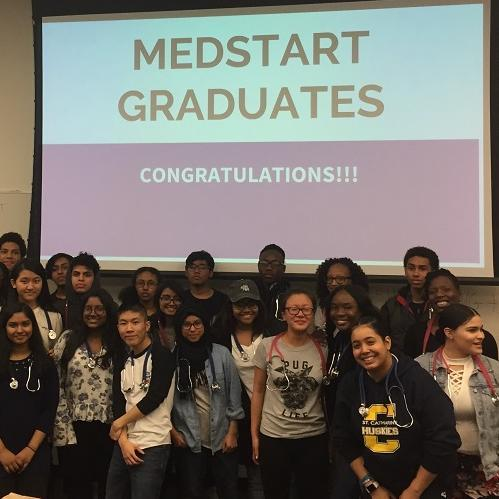 More than 100 high school students celebrated their graduation from TouroCOM's MedAchieve program.