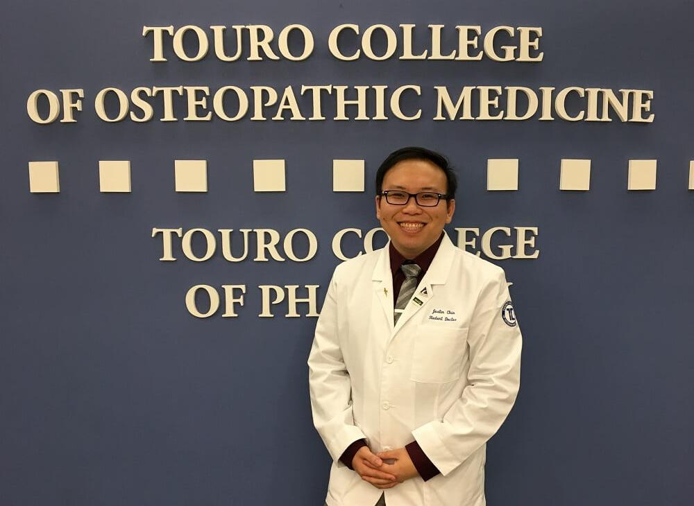 Justin Chin is TouroCOM Harlem\'s Student DO of the Year.