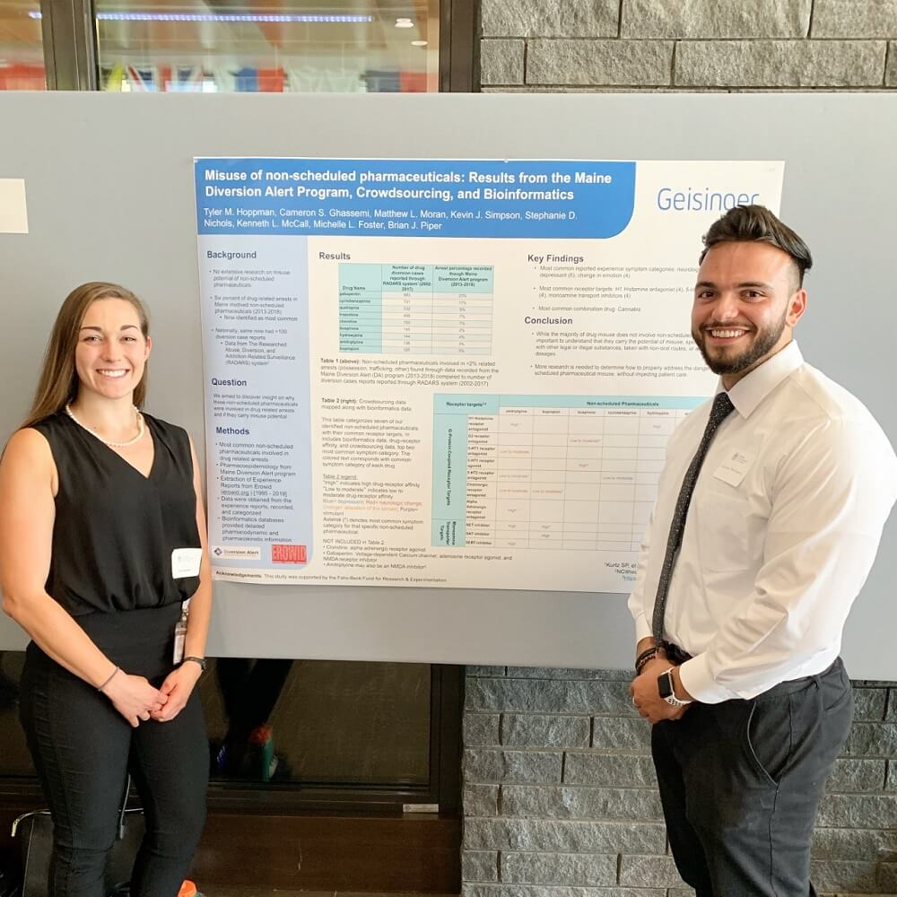 Cameron Ghassemi and his research partner, Tyler Hoopman, a second-year student at Geisinger Commonwealth School of Medicine, examined whether the misuse of legal pharmaceuticals leads to arrests.