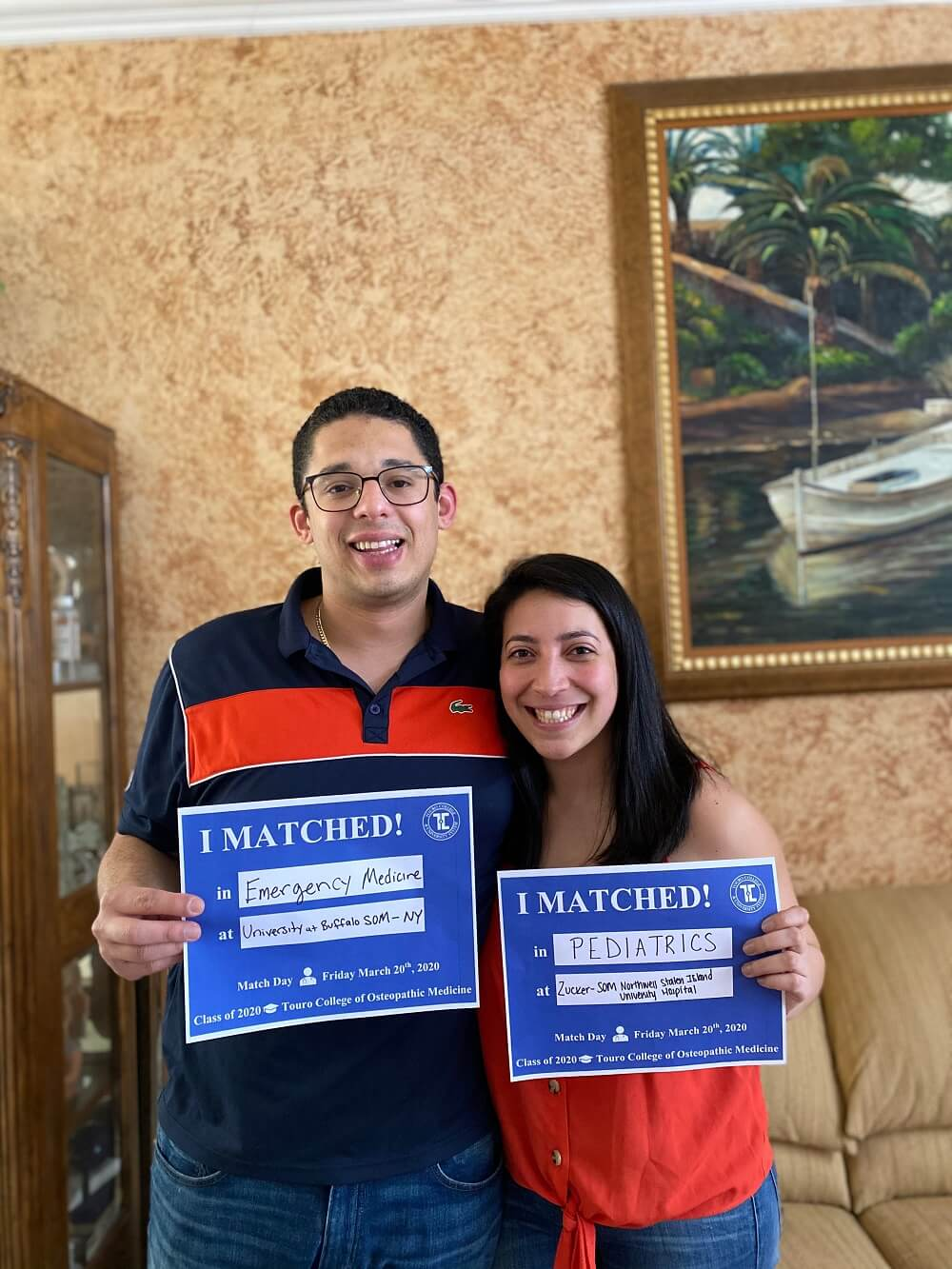 TouroCOM students Brandon Chavez and Stephanie Morales