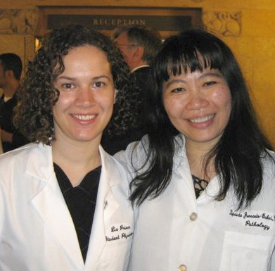 Fourth year medical student Elizabeth Prince, left, with her advisor Tipsuda Junsanto-Bahri, M.D., assistant professor, internal medicine and pathology