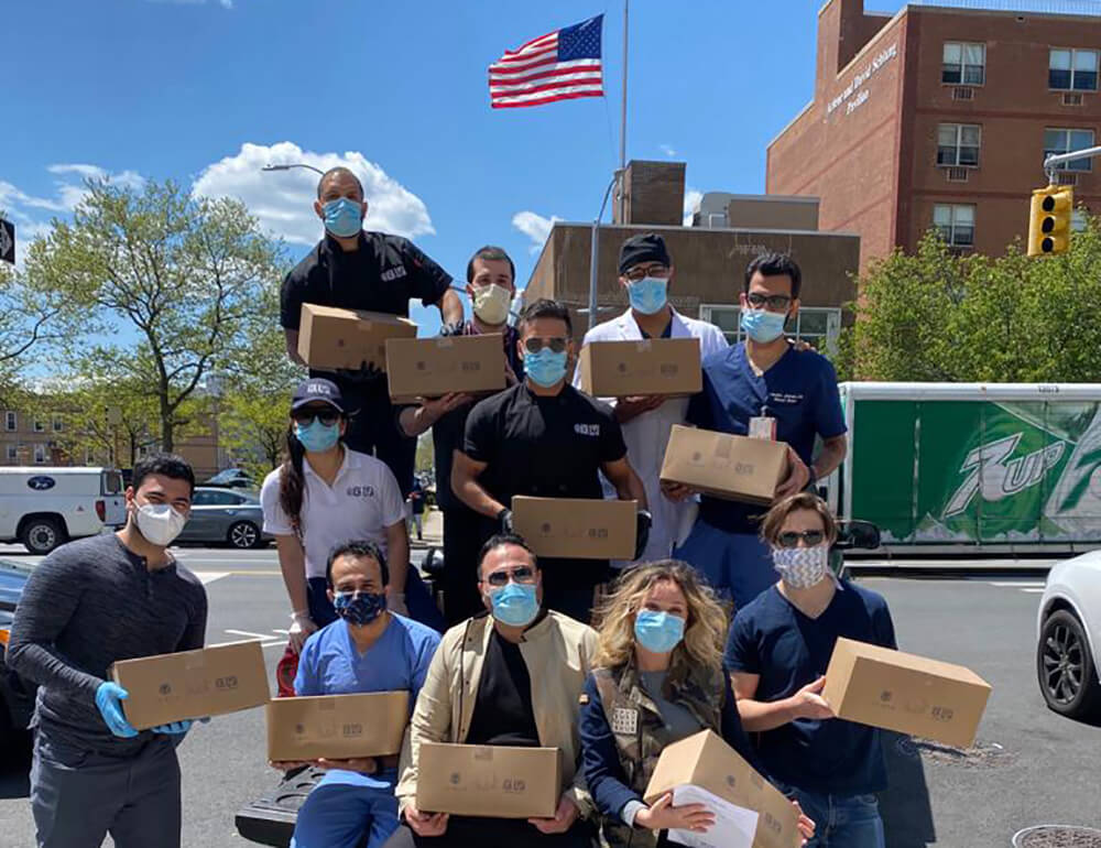 Behind Our Heroes delivers PPE to Brookdale Hospital