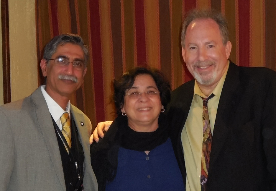 Left to Right: Keynote Speaker Arunabh Talwar, MD; Grace Vasconez-Pereira,DO, assistant professor at TouroCOM; and Kenneth Steier,DO, clinical dean and moderator, at a recent forum on pulmonary hypertension.